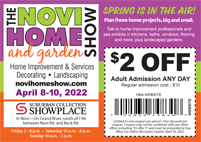 Novi home Show coupon