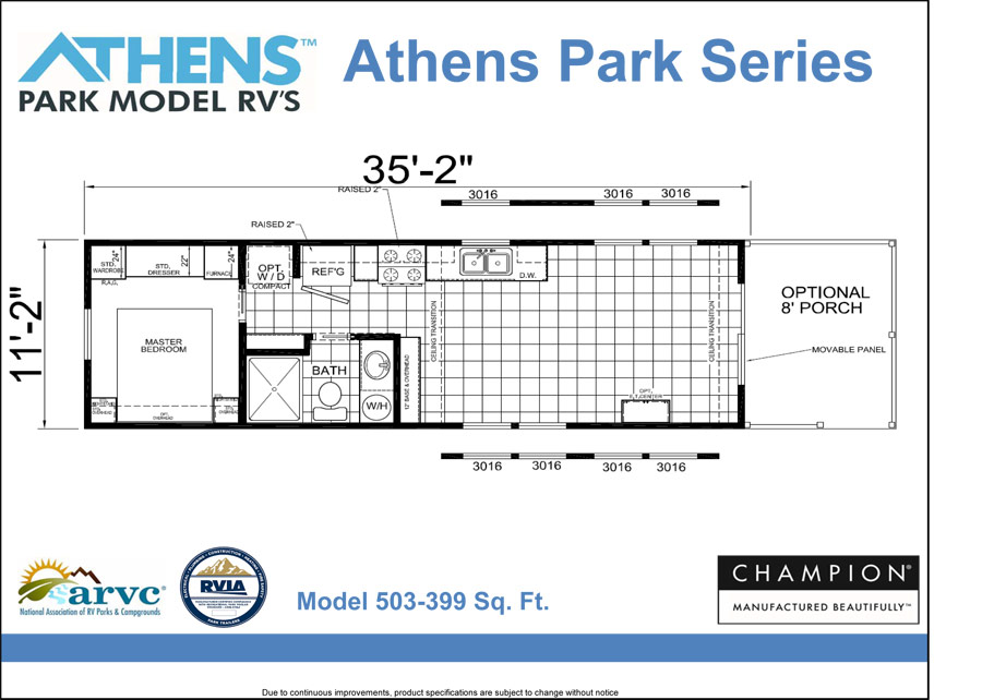 Mmha home showcase at the novi home show for Park model floor plans 2 bedroom